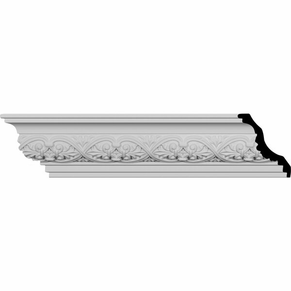 Dublin Leaves 4 3/8H x 94 1/2W x 3 3/4D Crown Molding by Ekena Millwork