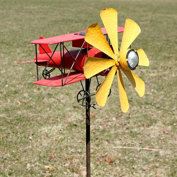 Solar Biplane Spinner by Marshall Home Garden