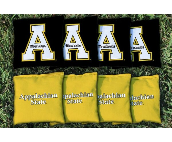 NCAA Appalachian State Mountaineers Replacement Corn Filled Version 2 Cornhole Bag Set by Victory Tailgate