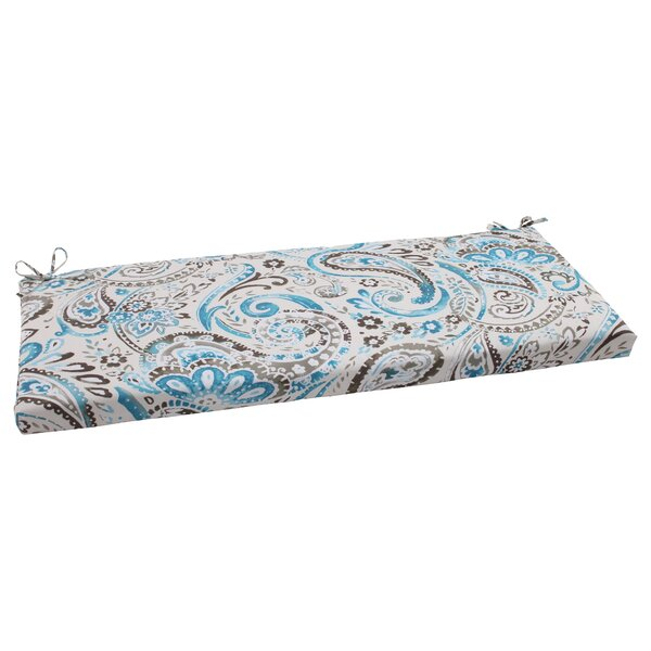 Paisley Indoor/Outdoor Bench Cushion by Pillow Perfect