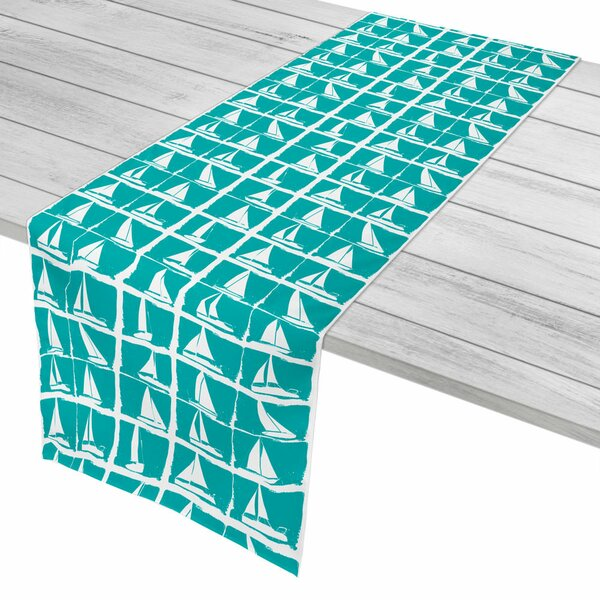 Nautical Regatta Aqua Table Runner by Island Girl Home