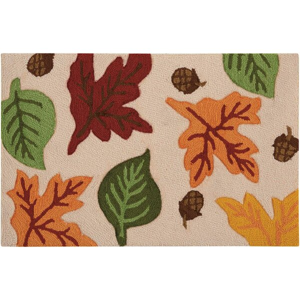 Chatelaine Hand-Tufted Sand/Green Area Rug by August Grove