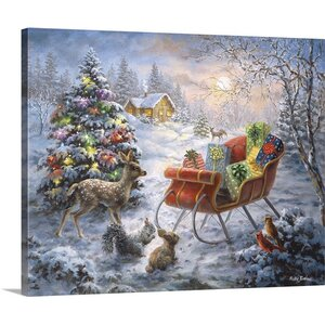 Christmas Art Tis' the Night Before Xmas by Nicky Boehme Painting Print on Wrapped Canvas by Great Big Canvas