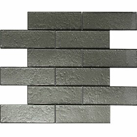 Cartagena 2 x 6 Glass Field Tile Artic Gray by Vetromani