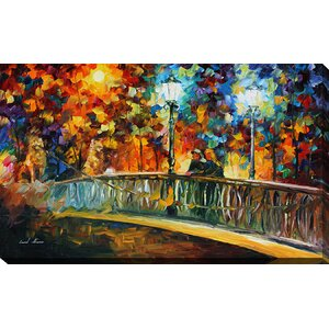Date on the Bridge by Leonid Afremov Painting Print on Wrapped Canvas by Picture Perfect International
