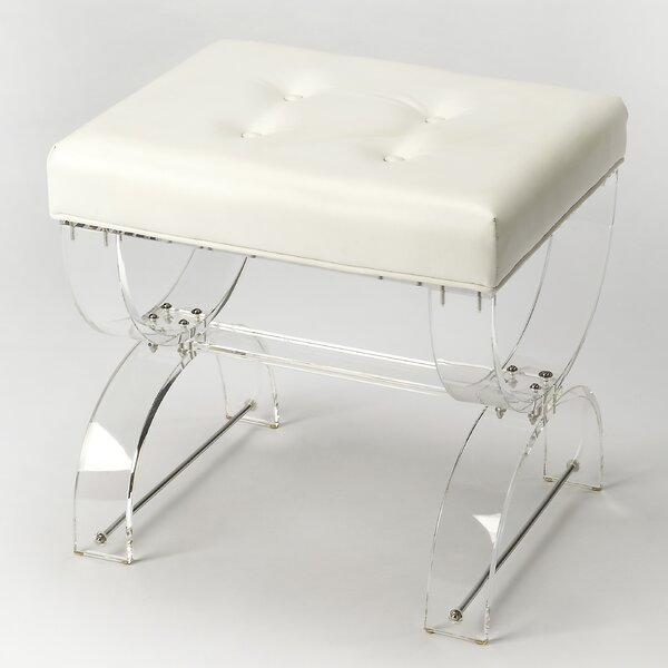 Nerissa Acrylic Vanity Stool by Everly Quinn