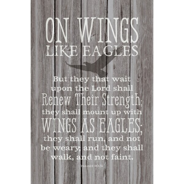 On Wings Like Eagles… Textual Art Plaque by Dexsa