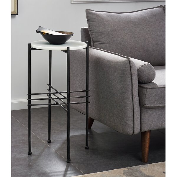 Killingworth Tall Marble End Table by Modern Rustic Interiors