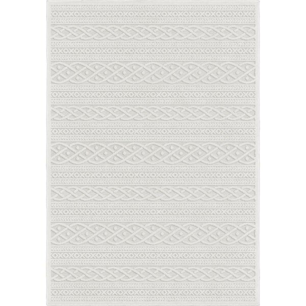 Borst Ivory Indoor/Outdoor Area Rug by Union Rustic