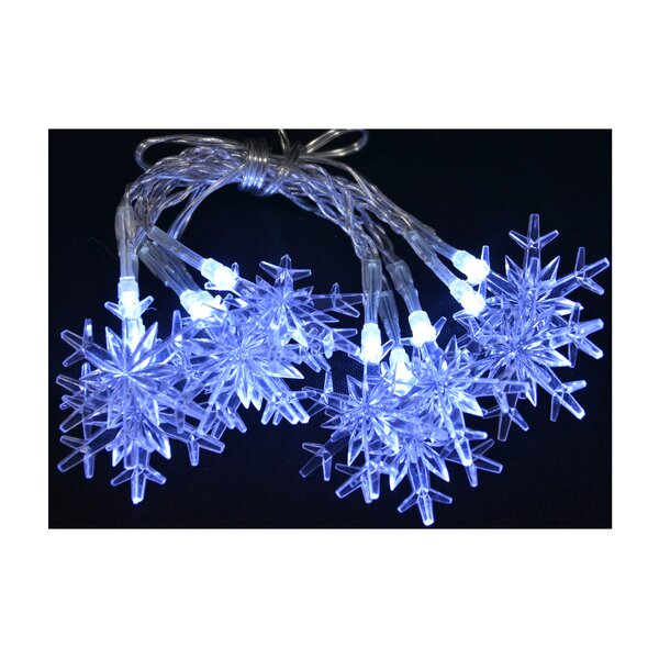 10 Bulb Snowflake Garland (Set of 2) by The Holiday Aisle