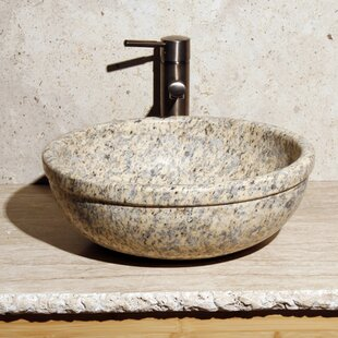Best Price Stone Circular Vessel Bathroom Sink By Allstone Group