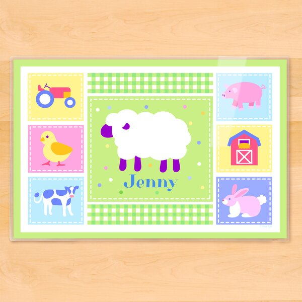 Country Baby Sheep Personalized Placemat by Olive Kids