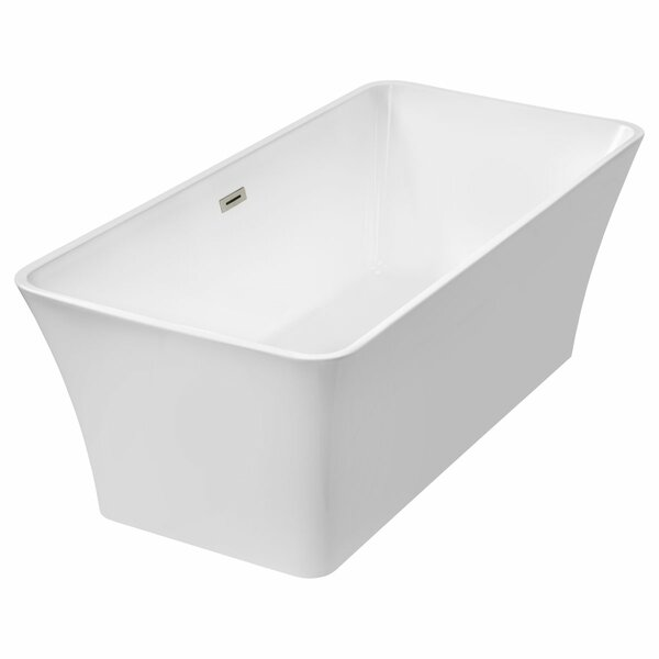Freestanding 66.75 x 31.25 Bathtub by LessCare