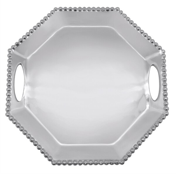 String of Pearls Octagonal Tray by Mariposa