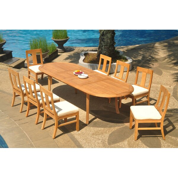 Kevon 9 Piece Teak Dining Set by Rosecliff Heights