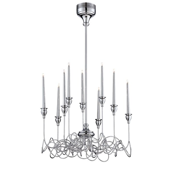 Candela 9 - Light Candle Style Classic / Traditional Chandelier By Eurofase