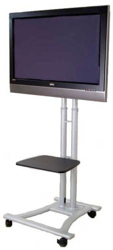 Mobile LCD / Plasma Television Fixed Floor Stand Mount for 60 LCD / Plasma Screen by MonMount