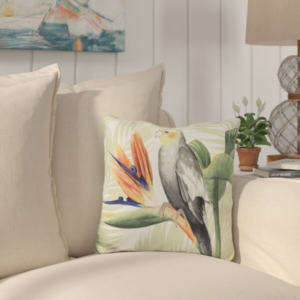 Saxon Avian Paradise Throw Pillow by Bay Isle Home
