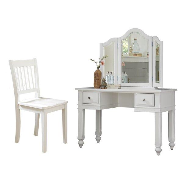 Javin Vanity Set with Mirror by Harriet Bee