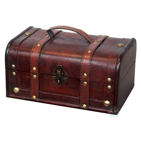 Decorative Wood Treasure Box Trunk by Vintiquewise