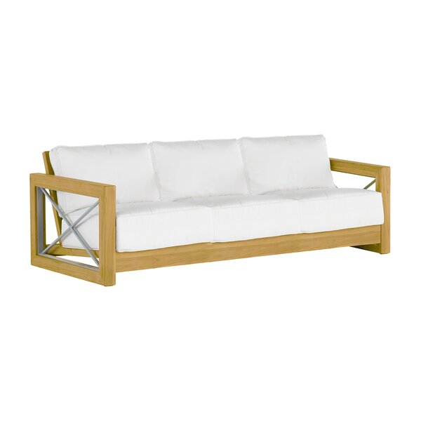 Malta Teak Patio Sofa with Cushions by Summer Classics