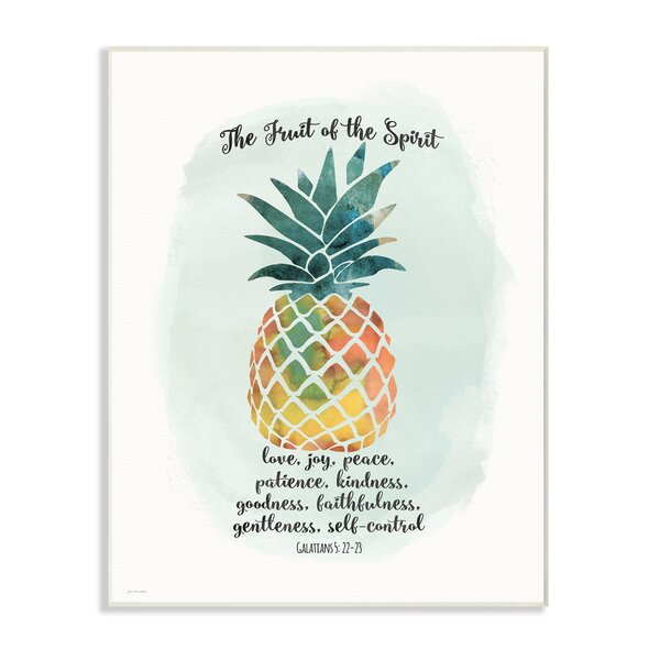 The Fruit of The Spirit Multicolored Pineapple Textual Art by Stupell Industries