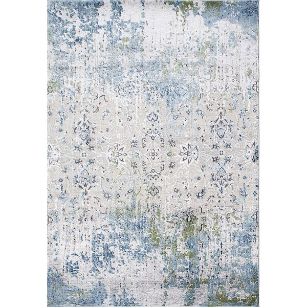 Dovewood Light Blue Area Rug by Bungalow Rose