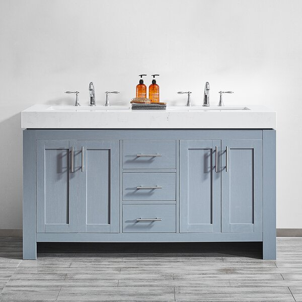 Neva 60 Double Bathroom Vanity Set by Wrought Studio