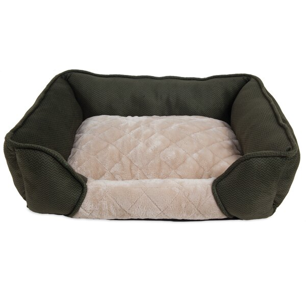 Thalia Quilted Rectangular Lounger Bolster Dog Bed by Tucker Murphy Pet