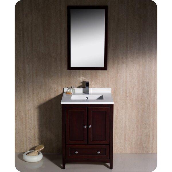 Oxford 24 Single Bathroom Vanity Set with Mirror by Fresca