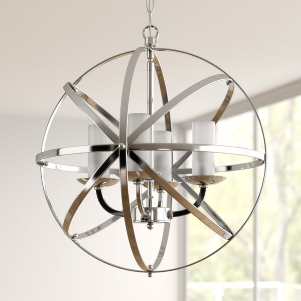 Connie 4 - Light Lantern Globe Chandelier by Orren Ellis Orren Ellis