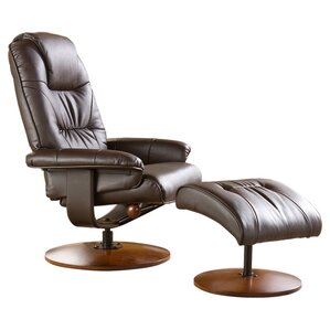 Arkin Standard Size Manual Swivel Recliner with Ottoman by Red Barrel Studio
