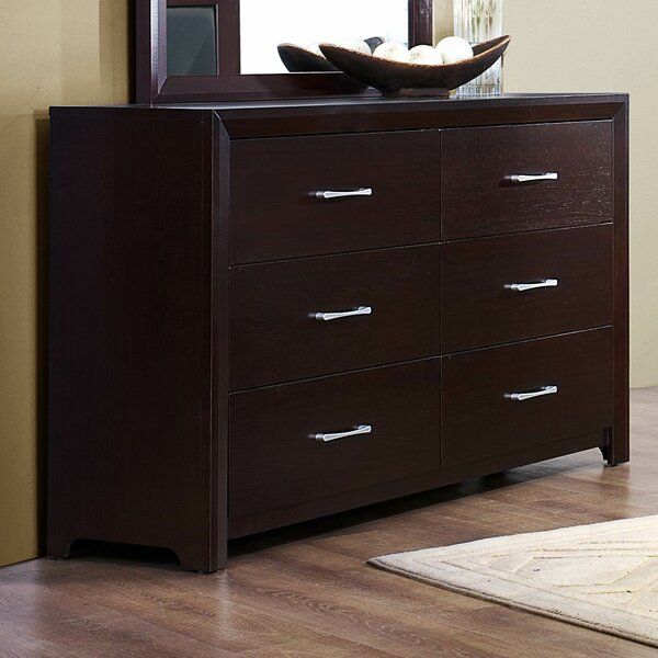 Edina 6 Drawer Double Dresser by Woodhaven Hill