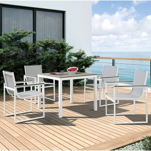 Hornback Outdoor 5 Piece Dining Set By Latitude Run