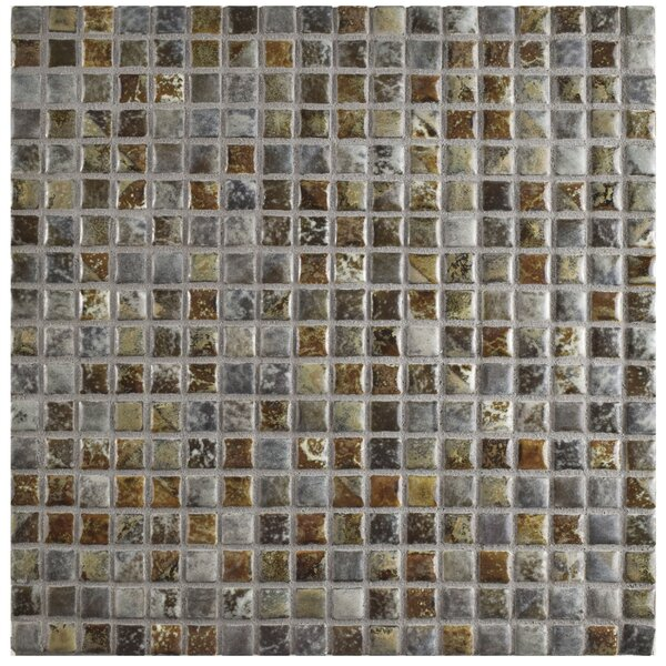 Arcadia 0.56 x 0.56 Porcelain Mosaic Tile in Noce Slate by EliteTile