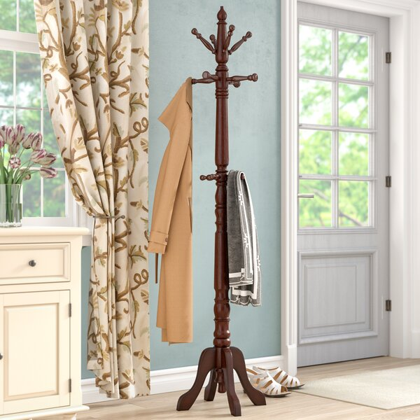 Traditional Rubber Wood Coat Rack by Astoria Grand