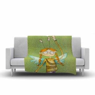 Best Price Carina Povarchik Urban Fairy Girl Kids Fleece Blanket ByEast Urban Home