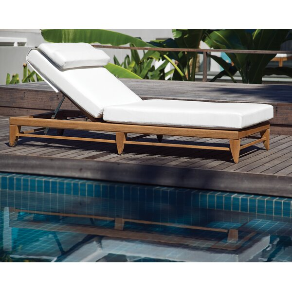 Limited Reclining Teak Chaise Lounge with Cushion by OASIQ