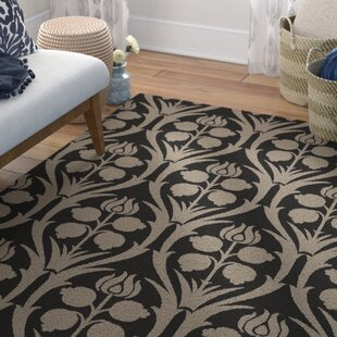 Reviews Baconton Hand-Hooked Black/Gray Area Rug ByBungalow Rose