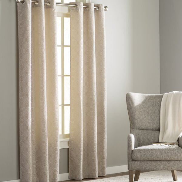 Jamison Cortese Geometric Room Darkening Grommet Curtain Panels (Set of 2) by Langley Street