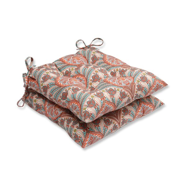 Crescent Beach Indoor/Outdoor Dining Chair Cushion (Set of 2) by Pillow Perfect