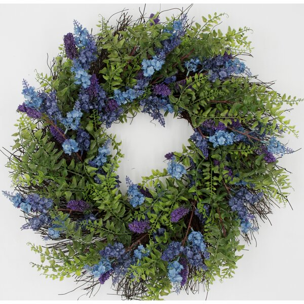 Lavender 24 Wreath by Charlton Home