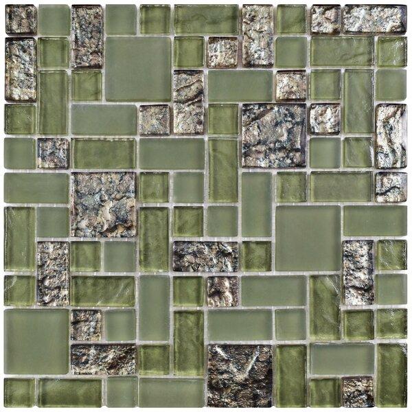 Sierra Random Sized Glass Mosaic Tile in Green by EliteTile