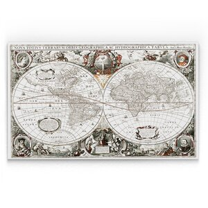 'Treasue Map' Graphic Art Print on Wrapped Canvas by Wexford Home