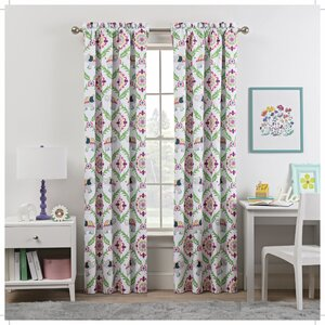 Waverly Bollywood Damask Blackout Rod Pocket Single Curtain Panel
