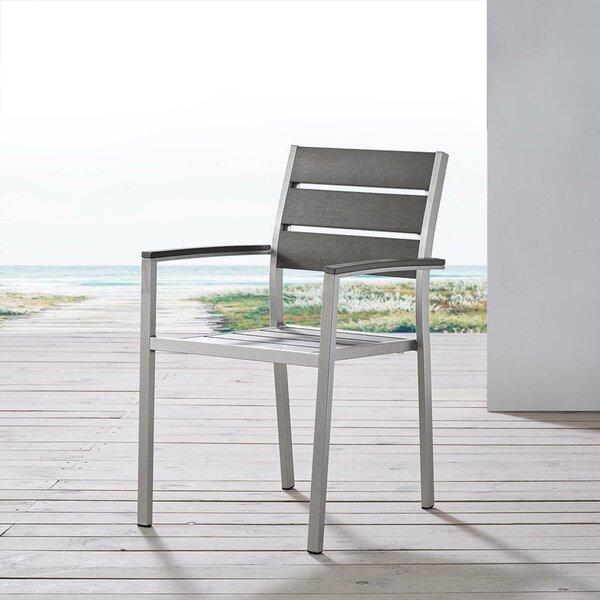 Lewallen Patio Dining Chair by Ebern Designs