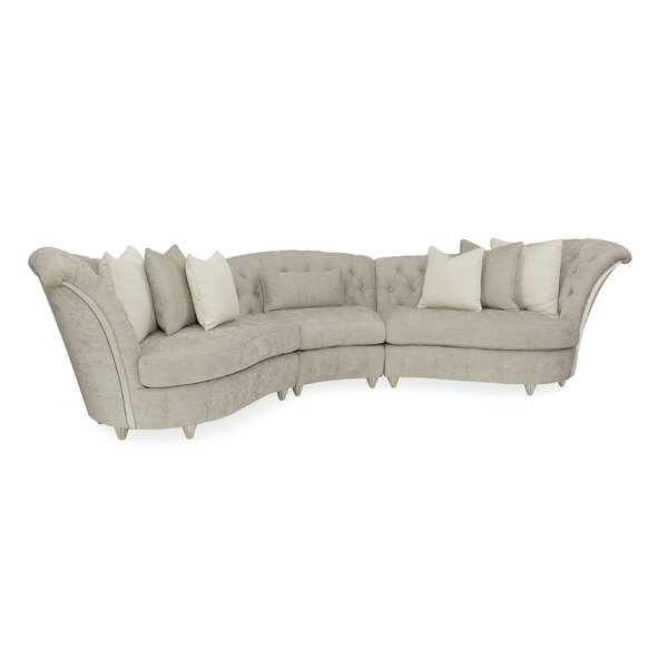 Chenille Curved Modular Sectional By Caracole Compositions