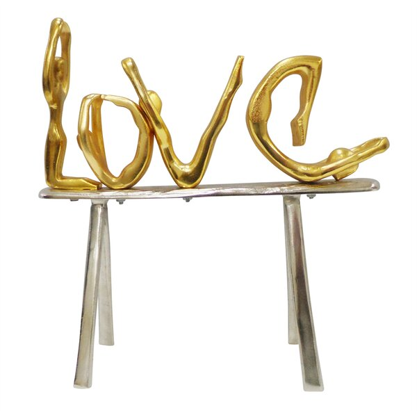 Postell Well Designed Metal Love Decor on Stand Sculpture by Bloomsbury Market