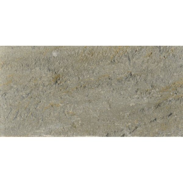 Century 6 x 12 Quartzite Stone Field Tile in Natural by The Bella Collection