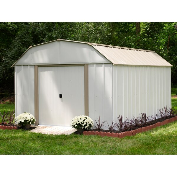 Lexington 10 ft. 3 in. W x 13 ft. 7 in. D Metal Storage Shed by Arrow